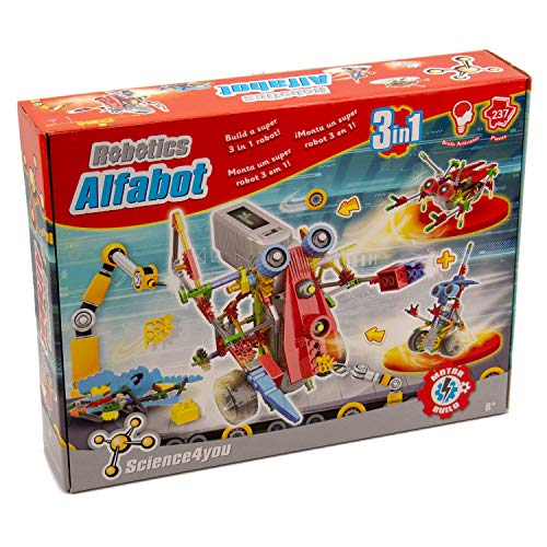 Science4you - Robotics alfabot 3 en 1 Jouet Scientifique et éducatif Stem (605176) de Science4you