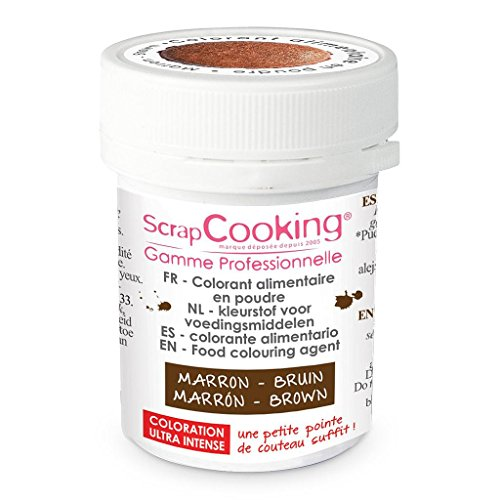 Colorant artificiel en poudre Marron, Scrapcooking de ScrapCooking