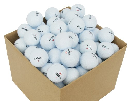 Second Chance VAL-100-BOX-WIL Wilson Premium Grade A Balles de golf de lac 100 unités Blanc de Second Chance