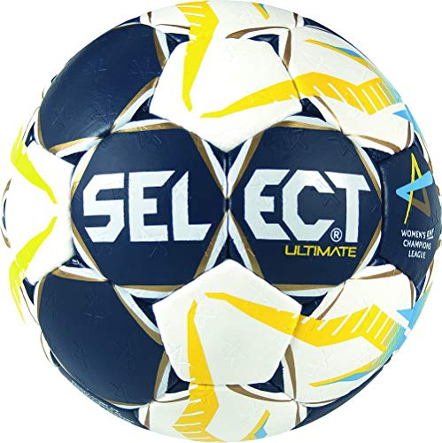 Select Ultimate Uni CL Women Ballon de handball Bleu/Blanc/Jaune, 2 de Select