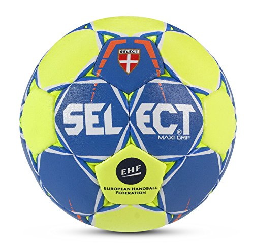 Select 1630647 Ballon de Handball Mixte Adulte, Bleu/Jaune, 0 de Select