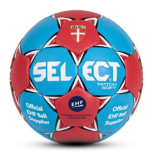 Select ballon de handball match soft 2 Bleu - Bleu/Rouge de Select