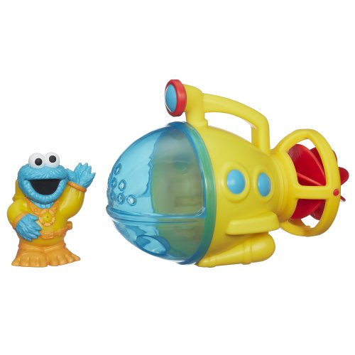 PLAYSKOOL SESAME STREET COOKIE MONSTER BATH SUBMARINE TOY de Sesame Street