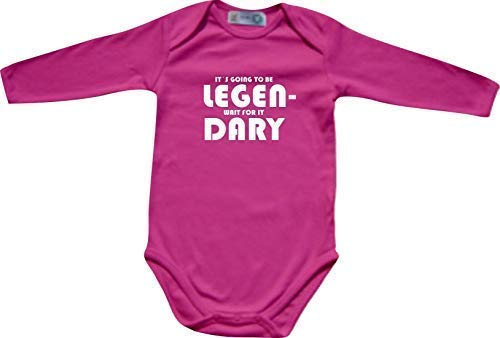 """ShirtInStyle Manches longues Babybody it´s going to be Legendary wait for it - rose, 74/80"" de ShirtInStyle"