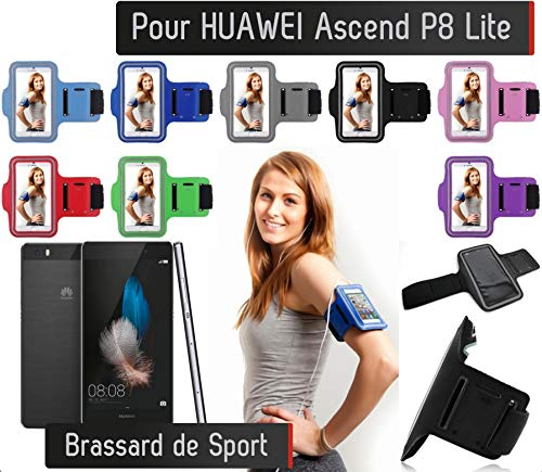 Shot Case - Brassard Sport Huawei Ascend P8 Lite Housse Etui Coque (Couleur Violet) de Shot Case