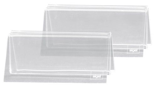 SIGEL TA150 Lot de 2 Porte-cartes menu, 10 x 5 x 6 cm, acrylique transparent de Sigel