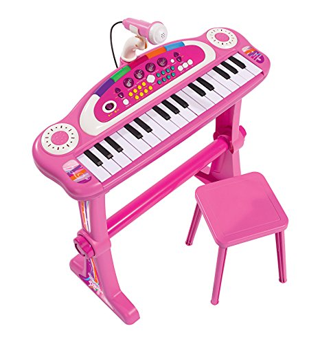 Simba 271 349 952,6 cm My Music World Girls Debout Clavier avec Tabouret de Simba
