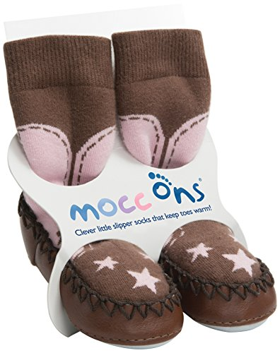 """Mocc Ons Cute Moccasin Style Slipper Socks (6-12 Months, Cowgirl)"" de Sock Ons"