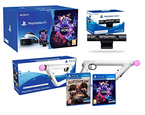 "PlayStation VR ""Bravo Team Pack"" + AimController + VR Worlds + Camera V2 de Playstation"