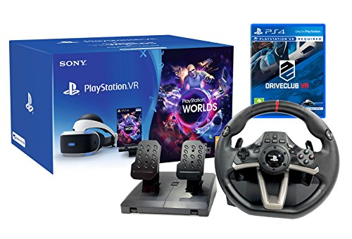 "PlayStation VR ""Course Pack"" DriveClub VR + Volant et pédales PS4 + VR Worlds + Camera V2 de Playstation"