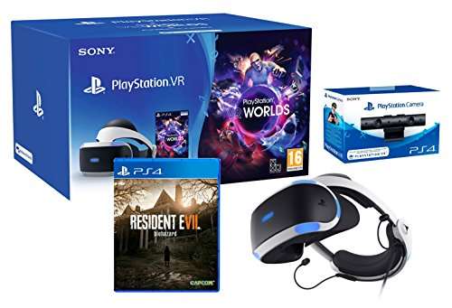 "PlayStation VR ""Resident Evil 7 Pack"" + VR Worlds + Cámera V2 de Playstation"