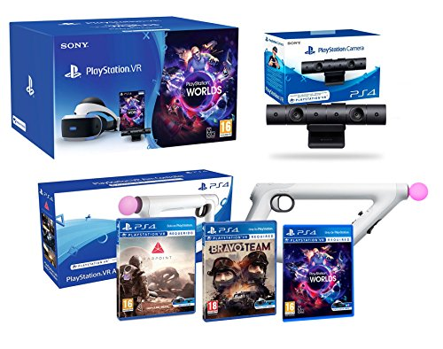 "PlayStation VR ""Shooter Pack"" Bravo Team + Farpoint + Aim Controller + VR Worlds + Cámera V2 de Playstation"