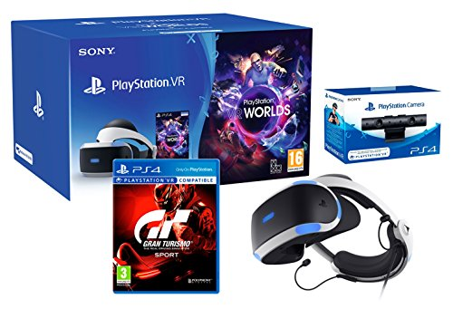 "PlayStation VR2 (CUH-ZVR2) ""GT Sport Pack"" + VR Worlds + PS4 Cámera VR de Playstation"