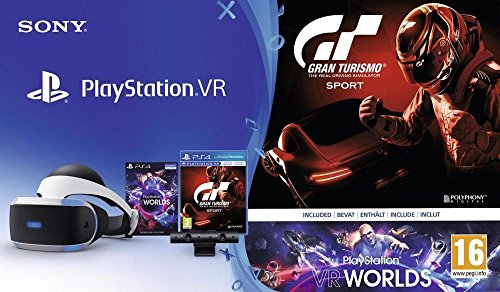 PlayStation VR + Caméra + GT Sport + VR Worlds (Digital) de Playstation