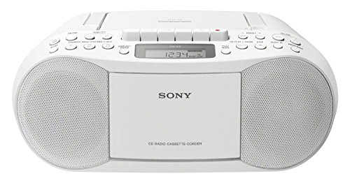 Sony CFD-S70 Personal CD player Blanc - Lecteurs de CD (3,4 W, 87,5-108 MHz, FM,MW, Cassette, 158 mm, 351 mm) de Sony