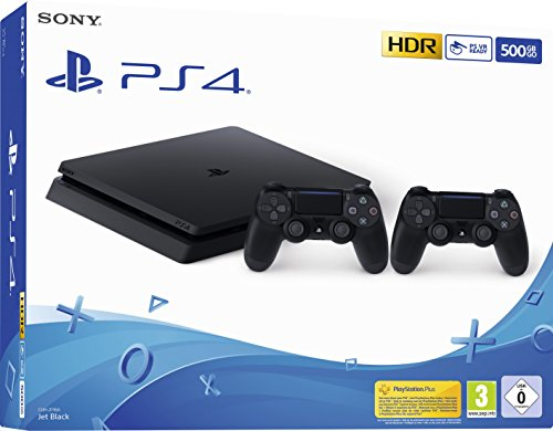 Sony PS4 Slim 500GB Jet noir inkl 2 DS4 Controller de Sony