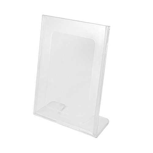 12,7 x 17,8 cm vertical Support pour cartes en plastique transparent Réunion carte Support de Sourcingmap
