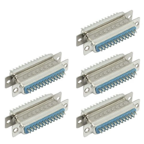 Sourcingmap Lot de 5 connecteurs D-SUB DB25 25 broches M/F F/F de Sourcingmap