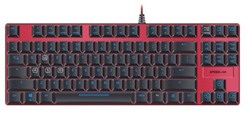Speedlink Ultor USB Noir, Rouge – Clavier (USB, Jeu, Mechanical Key Switch, avec Fil, USB, Noir, Rouge) de Speedlink