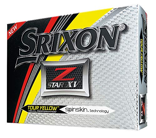 Lot de 12 balles de golf Srixon Z-Star XV 2017, Homme, Tour Yellow, Tour Yellow de Srixon