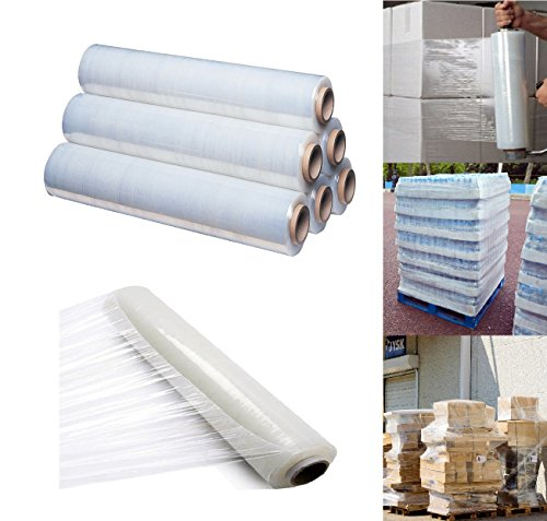 400mm X 250 meter Rolls Clear Pallet Stretch Shrink Wrap Parcel Packing Cling Film Pack of 4 de St@llion