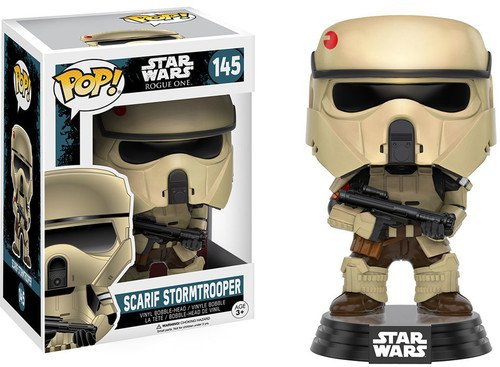 Figurine Pop ! Star Wars : Rogue One 145 - Bobble-Head Scarif Stormtrooper de FunKo