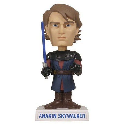 Anakin Skywalker ~6 Bobble-Head Figure: Star Wars Clone Wars x Wacky Wobbler Series de Star Wars