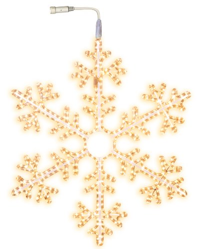 Star 800-50 Tube Lumineux Silhouette Flocon de Neige 504 LEDs Blanc Chaud de Star