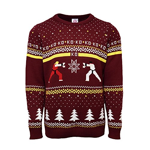 Official Street Fighter Ken Vs Ryu Christmas Jumper (S) de Street Fighter