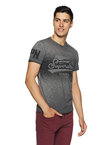 Superdry High Flyers Low Roller Tee Pull sans Manche, Noir (Black Slub A of), XX-Large (Taille Fabricant: 2XL) Homme de Superdry