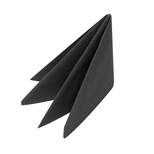 Swantex Serviettes de table, 2 couches, longues, (lot de 2000), Noir, 40 cm de Swantex