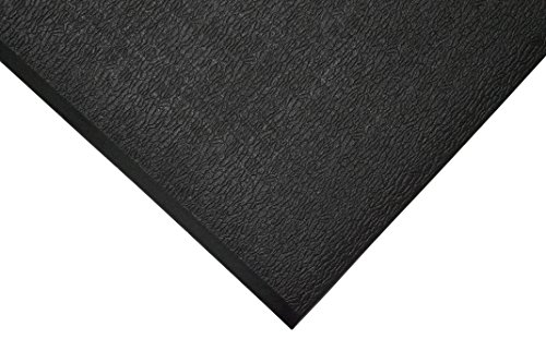 TAP 0003058 Tapis antifatigue, surface texturée, 0,6 m x 0,9 m, Noir de TAP