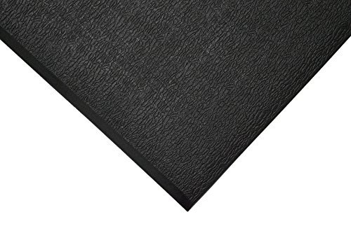 TAP 0003059 Tapis antifatigue, surface texturée, 0,9 m x 18, 3 m, Noir de TAP FRANCE