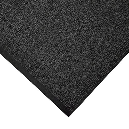 TAP 0003060 Tapis antifatigue, surface texturée, 0,9 m x 1 m, Noir de TAP FRANCE