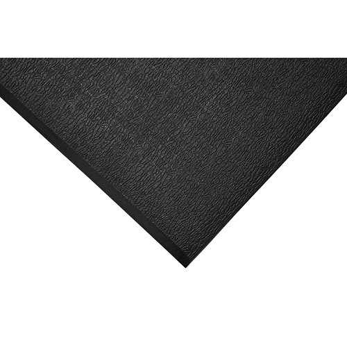 TAP 0003063 Tapis antifatigue, surface texturée, 0,9 m x 1 m, Noir/Jaune de TAP FRANCE