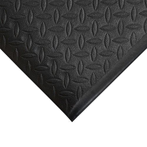TAP 0003064 Tapis antifatigue, relief diamant, 0,6 m x 0,9 m, Noir de TAP FRANCE