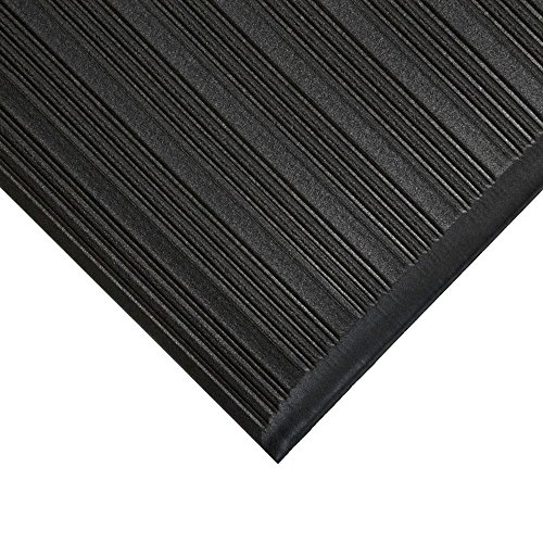 TAP 0003072 Tapis antifatigue, nervuré, 0,6 m x 0,9 m, Noir de TAP FRANCE