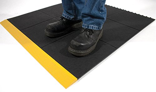 TAP 0003114 Tapis antifatigue en dalle, bordure d'angle male Jaune de TAP FRANCE