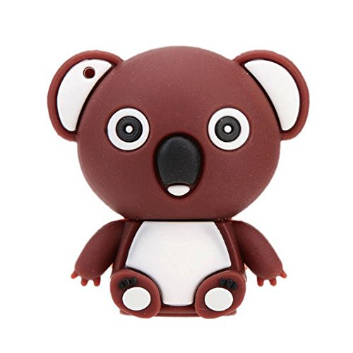 cle USB marron 16GB - TOOGOO(R)En forme d'Ours de dessin anime USB 2.0 Flash Disk Drive stockage Memory Stick cle USB Pen Drive Mini animal marron 16GB de TOOGOO(R)
