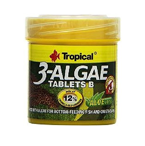 TROPICAL 3-Algae Tablets B Nourriture pour Aquariophilie 50 ml Lot de 3 de TROPICAL