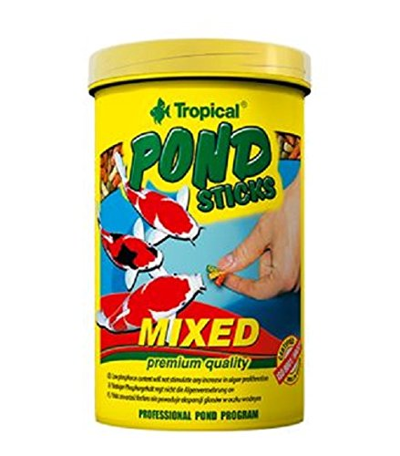 TROPICAL Pond Sticks Mixed Boite Mixed Nourriture pour Aquariophilie 1 L Lot de 4 de TROPICAL