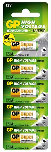 GP Battery High Voltage 23A (MS21 / MN21) Lot de 5 de Tacx