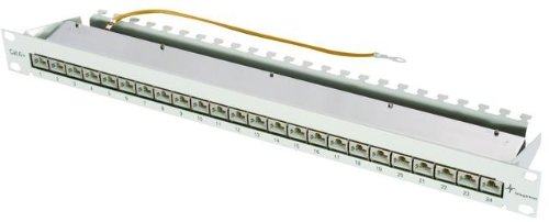 Telegärtner 19-inch Patch Panel MPP24-HS K Cat.6A 1U baie de branchements - baies de branchements (RJ45, Cat6a, Gris, 1U, 482,6 mm, 44 mm) de Telegärtner