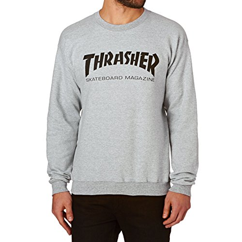 Thrasher - Sweat Crew Skate Mag - Grey Homme - Taille:m de Thrasher