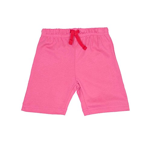 Toby Tiger 100% Organic Cotton Super Soft Pink Shorts, Fille, Rose Ans (Taille Fabricant: 2-3 Years 98 cm) de Toby Tiger