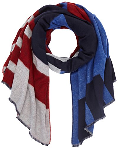 6dbdfdc977c6 Tommy Hilfiger Block Party Scarf, Echarpe Femme, Bleu (Corporate 901),  Fabricant