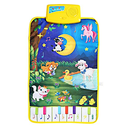 Bébé musical Piano Tapis de jeu Dessin animé Animal Langue Sonnent chantant Carpet Learning Education Touch Play jouet Cadeau de Top of top store