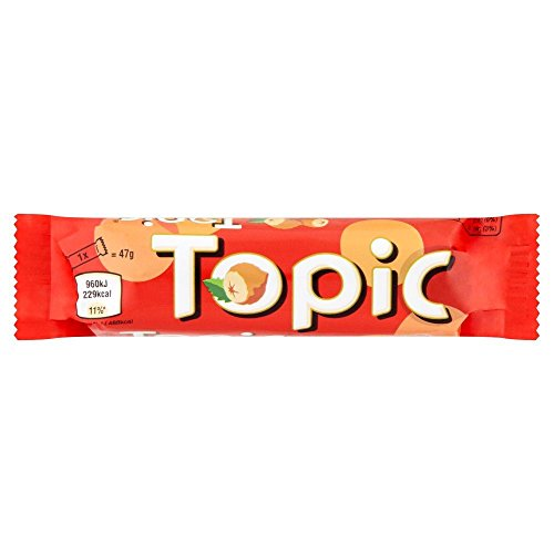Topic - Barre chocolatée - lot de 6 barres de 47 g de Topic