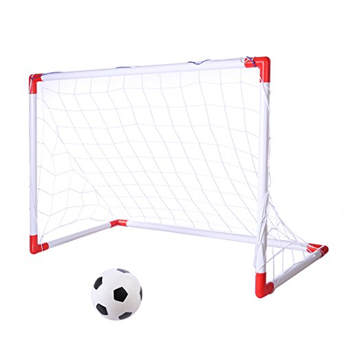 Tosbess Soccer Cage--Combinaison de But et de Sac--Ensemble de Porte de Football Pliable portatif--Enfants Football Gate Toy de Tosbess
