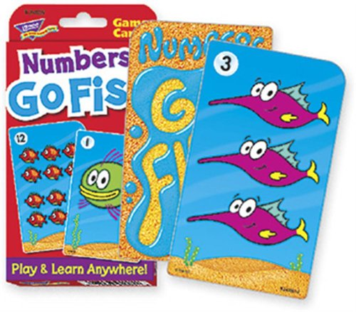 Numbers Go Fish Challenge Cards de Trend